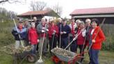SPD Ortsverein Holzwickede hilft den Kleingärtnern beim Frühjahrputz