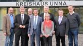 (v.l.n.r.): Rainer Schmeltzer, Michael Makiolla, Rolf Möller, Norbert Römer, Hartmut Ganzke, Brigitte Cziehso, Rüdiger Weiß und Oliver Kaczmarek